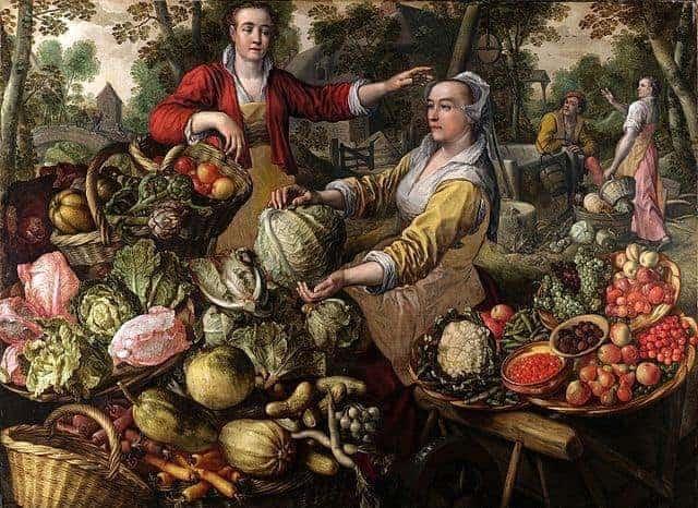 historia da gastronomia - frutas e legumes